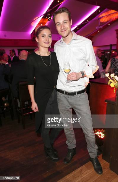 Max Felder and his girlfriend Stefanie Kaschke during the piano night hosted by Wempe and Glashuette Original at Gruenwalder Einkehr on April 25 2017...