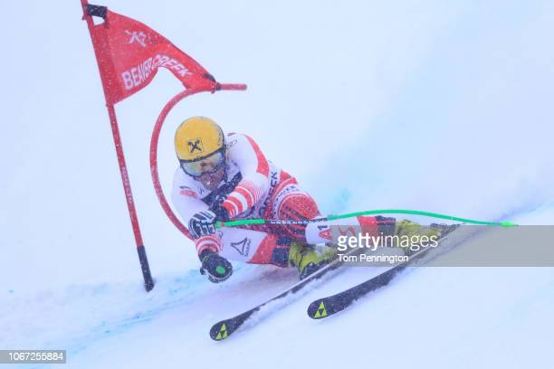 Max Frantz of Austria skis during the Audi FIS Alpine Ski World Cup Men's Super G on December 1 2018 in Beaver Creek Colorado