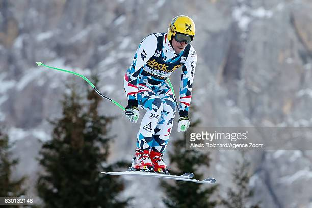 Max Franz of Austria competes during the Audi FIS Alpine Ski World Cup Men's Downhill on December 17, 2016 in Val Gardena, Italy