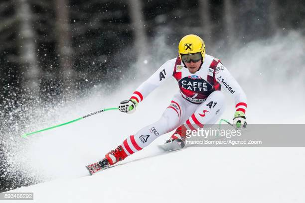 Max Franz of Austria competes during the Audi FIS Alpine Ski World Cup Men's Super G on December 15 2017 in Val Gardena Italy