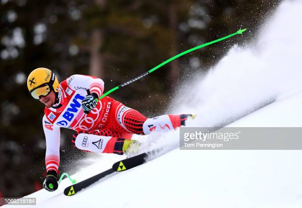 Max Franz of Austria skis during the Audi FIS Alpine Ski World Cup Men's Downhill Training on November 28 2018 in Beaver Creek Colorado
