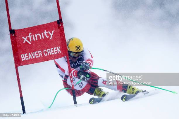 Max Franz of Austria takes 1st place during the Audi FIS Alpine Ski World Cup Men's Super G on December 1 2018 in Beaver Creek USA