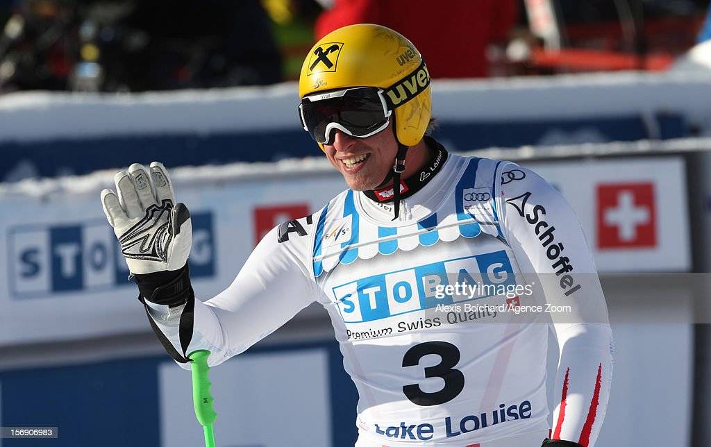Max Franz of Austria takes 2nd place competes during the Audi FIS Alpine Ski World Cup Men's Downhill on November 24, 2012 in Lake Louise, Alberta, Canada.