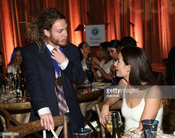 Max Frieder and Lily Aldridge Followill attend the 2018 World of Children Hero Awards Benefit at Montage Beverly Hills on April 19 2018 in Beverly...