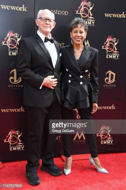 Max Gail and Vernee Watson attend the 46th annual Daytime Emmy Awards at Pasadena Civic Center on May 05 2019 in Pasadena California