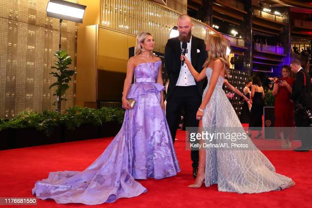 Max Gawn of the Demons and Jessica Todd arrive ahead of the 2019 Brownlow Medal at Crown Palladium on September 23 2019 in Melbourne Australia