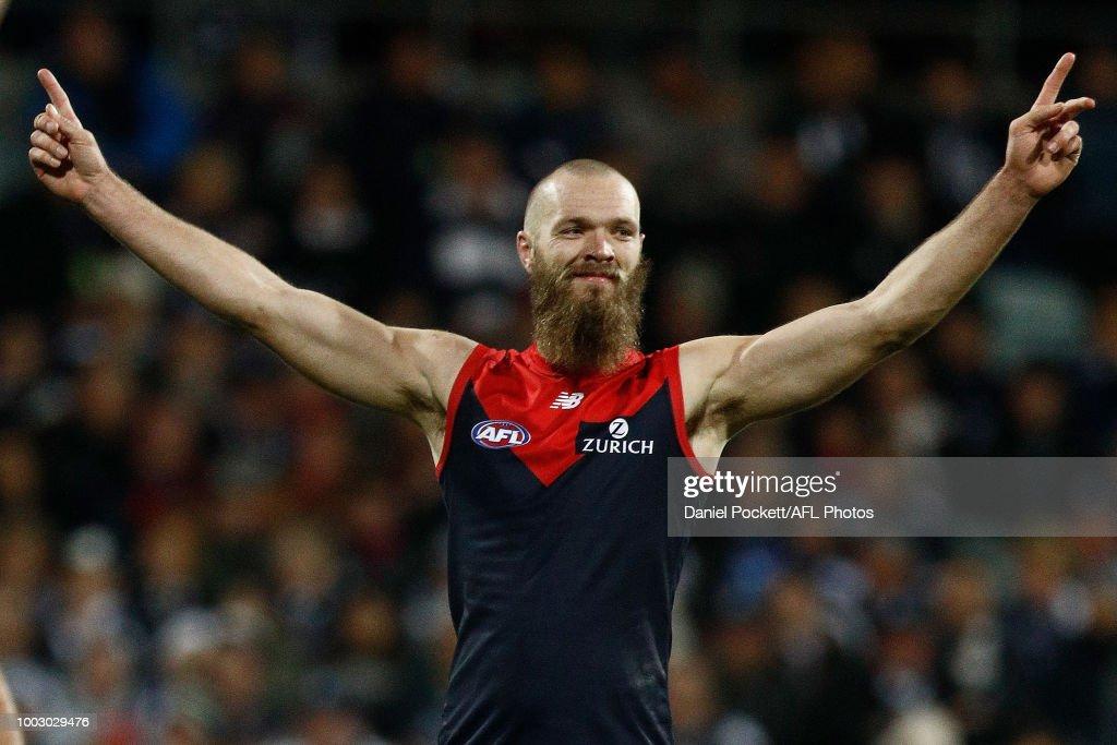 AFL Rd 18 - Geelong v Melbourne : News Photo