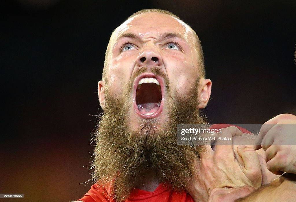 Max Gawn of the Demons competes for the ball during the round 12 AFL match between the Melbourne Demons and the Collingwood Magpies at Melbourne Cricket Ground on June 13, 2016 in Melbourne, Australia.