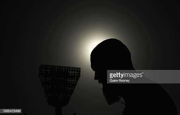 Max Gawn of the Demons looks on during the launch of the Field of Women at the Melbourne Cricket Ground on July 17 2018 in Melbourne Australia This...