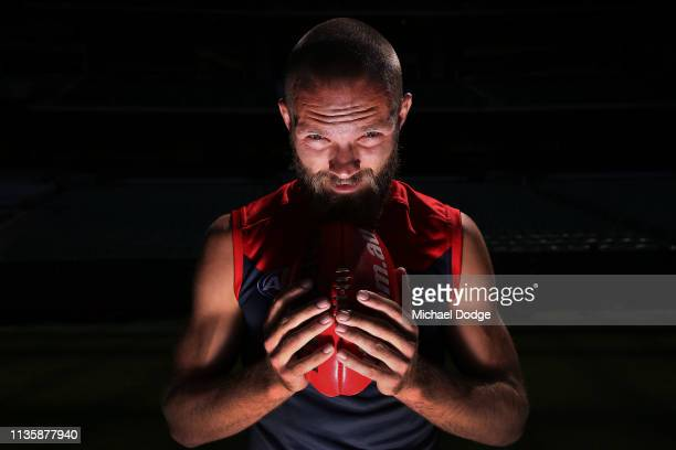 Max Gawn of the Demons poses during the AFL 2019 Captain's Day at Marvel Stadium on March 15 2019 in Melbourne Australia
