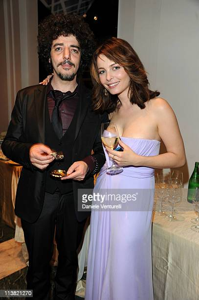 Max Gazze and Violante Placido attend the David Di Donatello Gala Dinner at the Auditorium Conciliazione on May 6 2011 in Rome Italy