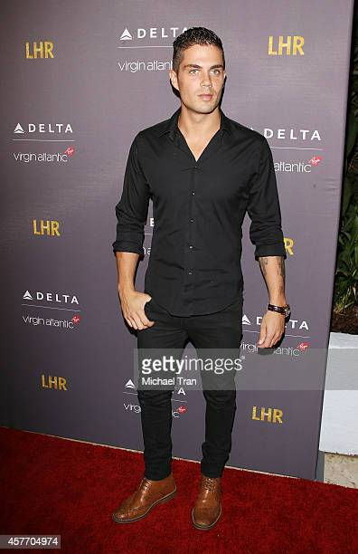 Max George arrives at Delta Air Lines and Virgin Atlantic celebrate nonstop route between LAX and Heathrow Airports held at The London Hotel on...