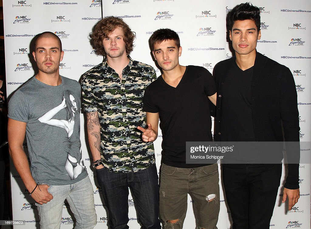 The wanted fan meet and greet photos and images getty images max george jay mcguiness tom parker and siva kaneswaran of the wanted attend the m4hsunfo Image collections