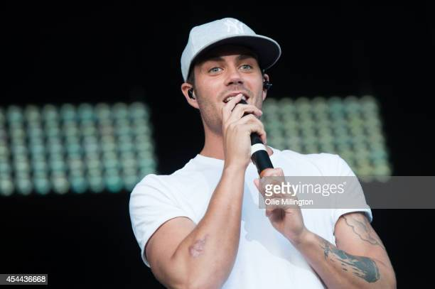 Max George of The Wanted performs onstage during day 2 of Fusioni Festival 2014 on August 31 2014 in Birmingham England
