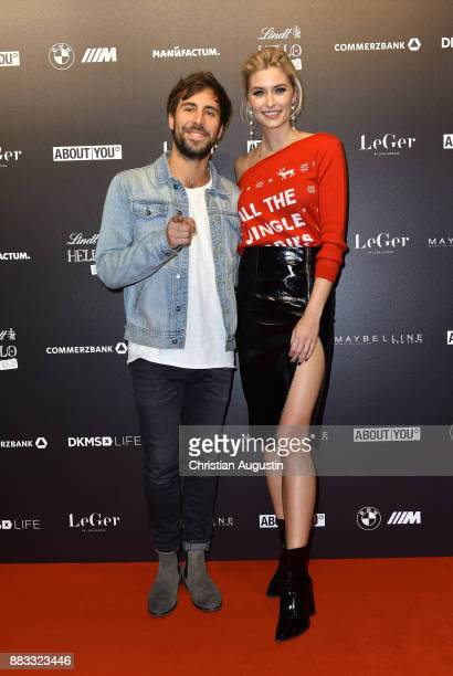 Max Giesinger and Lena Gercke attend the Christmas Dinner Party of Lena Gercke at the Bar Hygge on November 30 2017 in Hamburg Germany