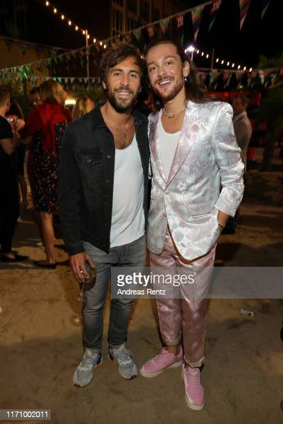 Max Giesinger and Riccardo Simonetti attend the Bunte New Faces Award Music on August 29 2019 in Dusseldorf Germany