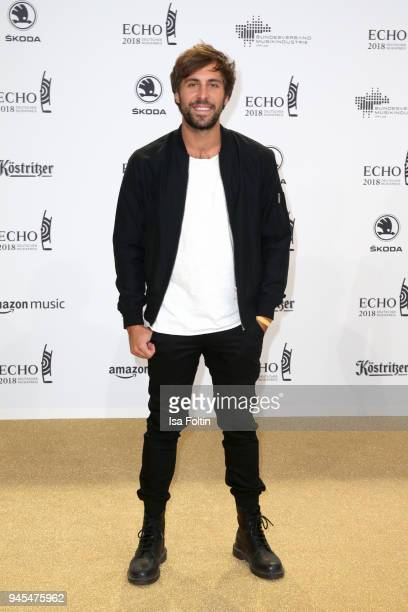 Max Giesinger arrives for the Echo Award at Messe Berlin on April 12 2018 in Berlin Germany