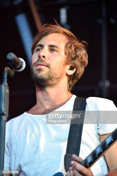 Max Giesinger performs during the Stadtwerke Party on July 7 2018 in Potsdam Germany