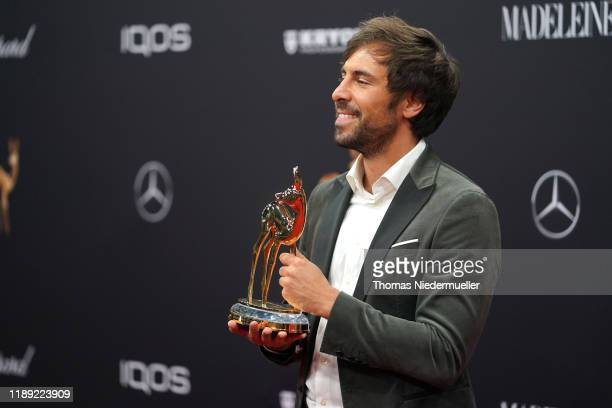 Max Giesinger poses with award during the 71th Bambi Awards winners board at Festspielhaus BadenBaden on November 21 2019 in BadenBaden Germany
