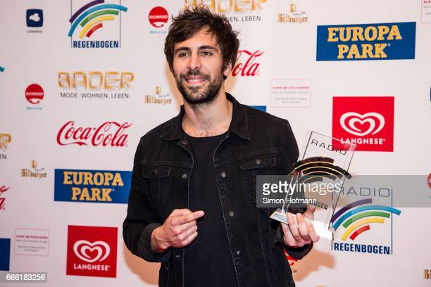 Max Giesinger poses with his award prior to the Radio Regenbogen Award 2017 at Europapark on April 7 2017 in Rust Germany