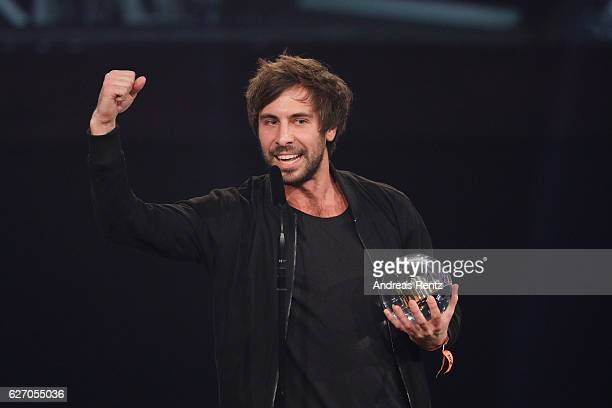 Max Giesinger wins the 1Live Krone at Jahrhunderthalle on December 1 2016 in Bochum Germany