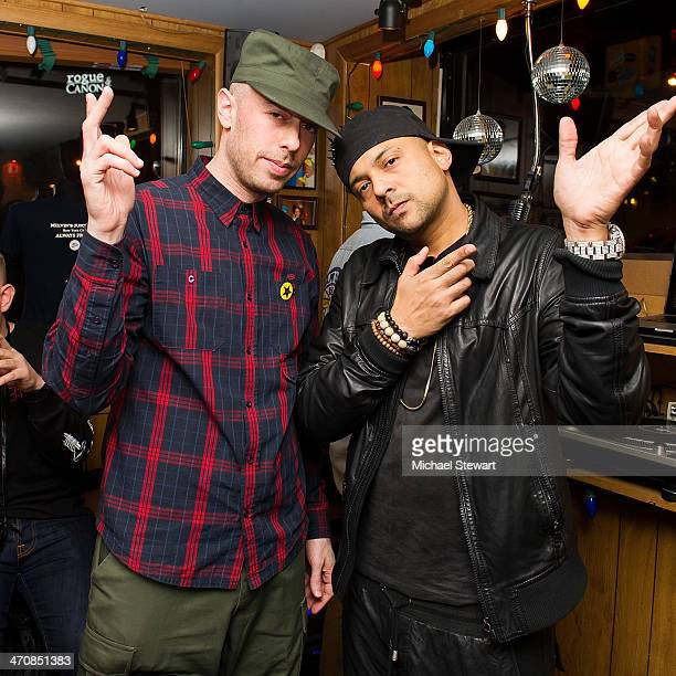 Max Glazer of Federation Sound and Reggae artist Sean Paul attend Sean Paul's 'Full Frequency' album release celebration at Miss Lilly's on February...