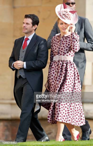 Max Gottschalk and Jane Gottschalk attend the wedding of Princess Eugenie of York and Jack Brooksbank at St George's Chapel on October 12 2018 in...
