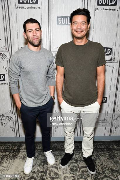 Max Greenfield and Destin Daniel Cretton attend AOL Build Series to discuss their new film 'The Glass Castle' at Build Studio on August 9 2017 in New...