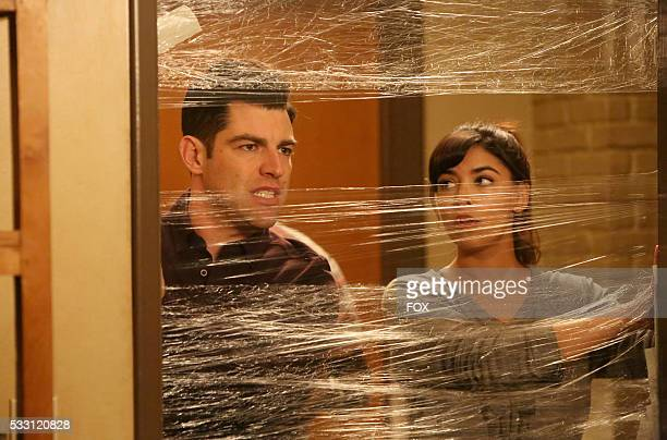 """Max Greenfield and Hannah Simone in the """"Sam Again"""" episode of NEW GIRL airing Tuesday, March 29 on FOX."""