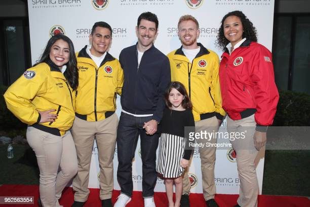 Max Greenfield and Lilly Greenfield and City Year AmeriCorps members attend City Year Los Angeles' Spring Break Destination Education at Sony Studios...