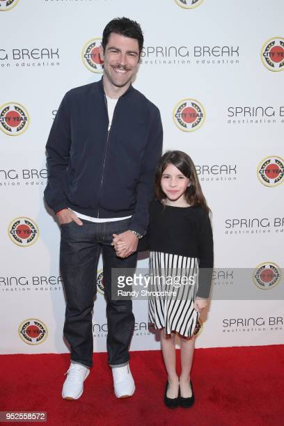 Max Greenfield and Lilly Greenfield attend City Year Los Angeles' Spring Break Destination Education at Sony Studios on April 28 2018 in Los Angeles...