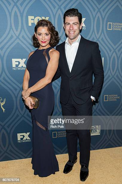 Max Greenfield and wife Tess Sanchez attend the FOX Broadcasting Company FX National Geographic And Twentieth Century Fox Television's 68th Primetime...