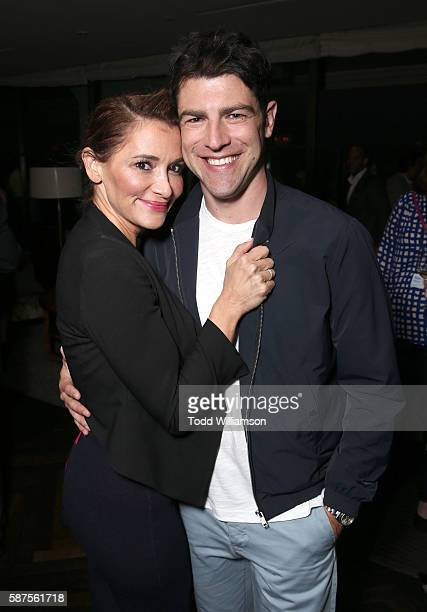 Max Greenfield and wife Tess Sanchez attend the FOX Summer TCA Press Tour on August 8 2016 in Los Angeles California