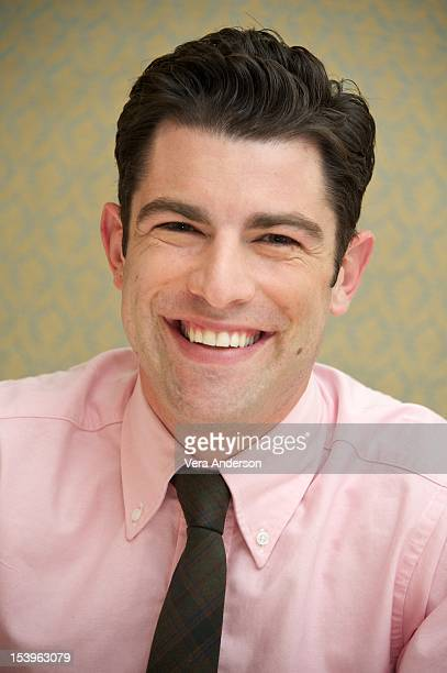 """Max Greenfield at the """"New Girl"""" Press Conference at the Four Seasons Hotel on October 10, 2012 in Beverly Hills, California."""