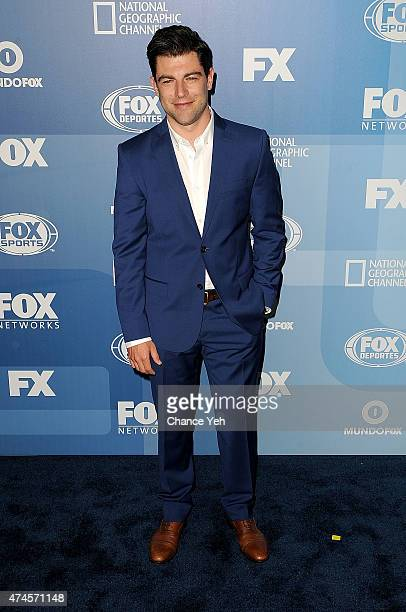 Max Greenfield attends 2015 FOX Programming Presentation at Wollman Rink Central Park on May 11 2015 in New York City