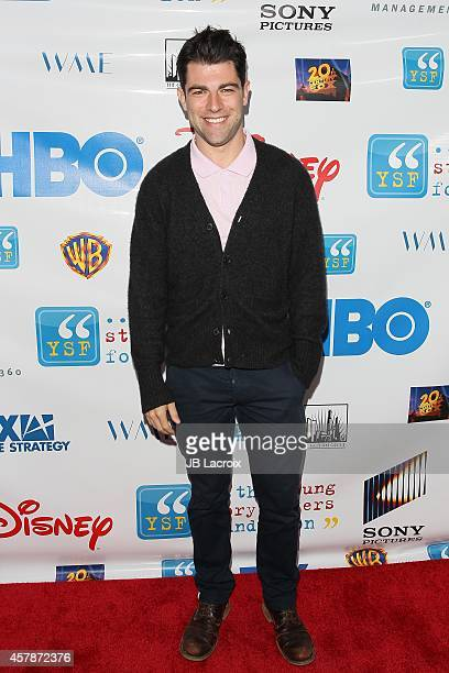 Max Greenfield attends the Young Storytellers Foundation's 'The Biggest Show' at New Roads on October 25 2014 in Santa Monica California