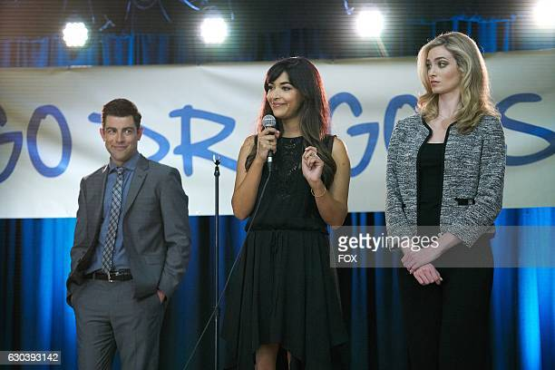 Max Greenfield Hannah Simone and guest star Allegra Edwards in the special Homecoming NEW GIRL/BROOKLYN NINENINE crossover episode of NEW GIRL airing...
