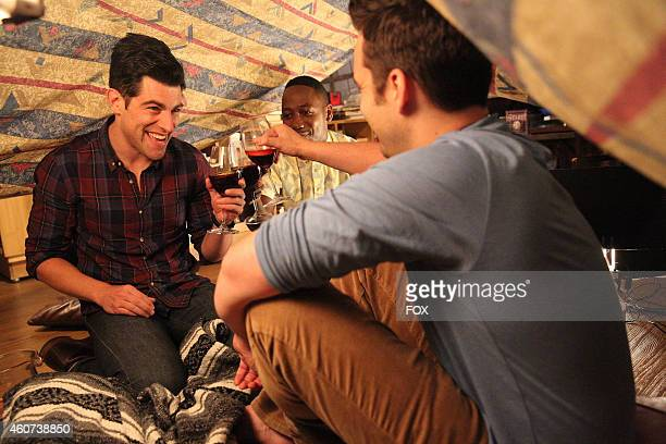 """Max Greenfield, Lamorne Morris and Jake Johnson in the """"Teachers"""" episode of NEW GIRL airing Tuesday, Nov. 18, 2014 on FOX."""