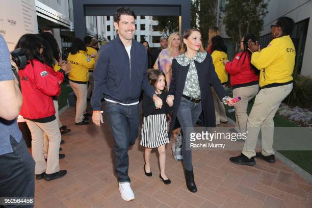 Max Greenfield Lilly Greenfield and Tess Sanchez attend City Year Los Angeles' Spring Break Destination Education at Sony Studios on April 28 2018 in...