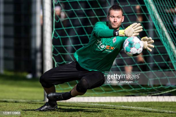 Max Gruen in action during the Training Camp of Borussia Moenchengladbach at Klosterpforte on August 19, 2020 in Marienfeld, Germany.