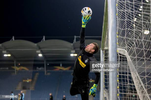 Max Gruen of Borussia Moenchengladbach in action during a Training Session ahead the Group J UEFA Europa League match between Wolfsberger AC and...