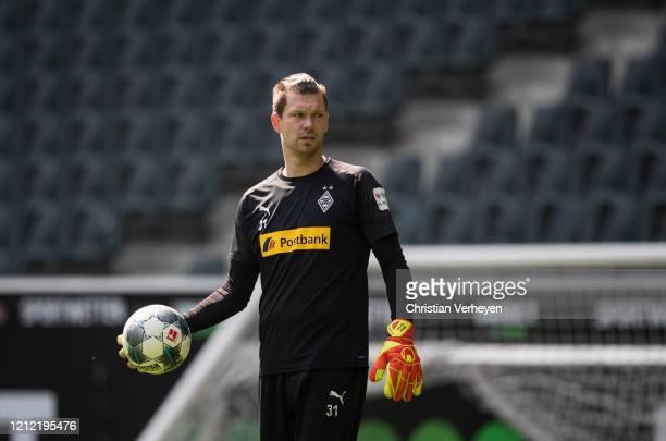 Max Gruen of Borussia Moenchengladbach in action during a training session of Borussia Moenchengladbach at BorussiaPark on May 08 2020 in...
