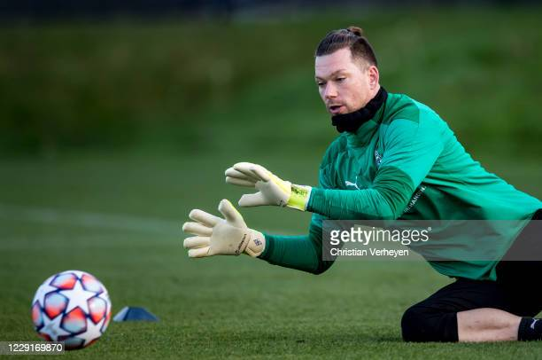 October 19: Max Gruen of Borussia Moenchengladbach in action during a training session of Borussia Moenchengladbach at Borussia-Park on October 19,...
