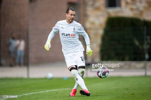 Max Gruen of Borussia Moenchengladbach in action during the Preseason Friendly match of Borussia Moenchengladbach and SC Paderborn as part from the...