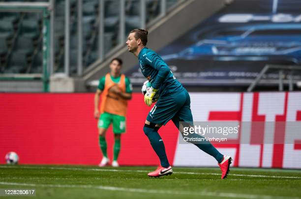 Max Gruen of Borussia Moenchengladbach in action during the Pre-Season friendly match between Borussia Moenchengladbach and SpVgg Fuerth at...