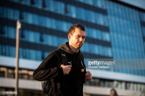 Max Gruen of Borussia Moenchengladbach is seen before the Bundesliga match between Borussia Moenchengladbach and Eintracht Frankfurt at BorussiaPark...