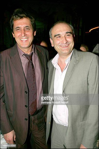 Max Guazzini and Pascal Negre at Dalida TV Film Tribute To The Singer