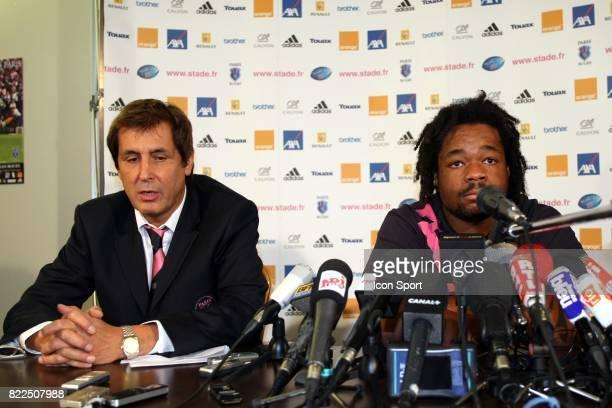 Max GUAZZINI / Mathieu BASTAREAUD Conference de Presse du Stade Francais Paris