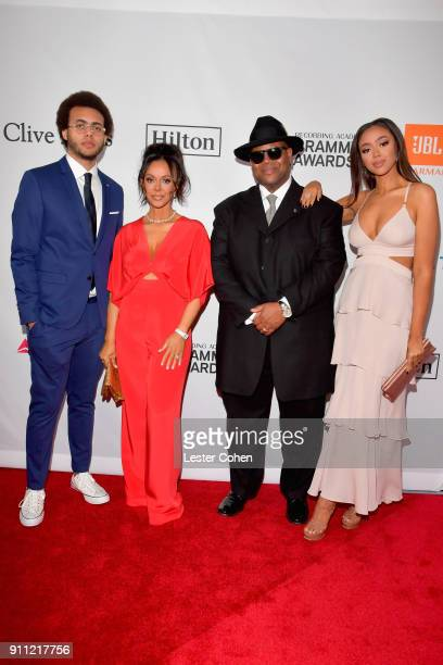 Max Harris Lisa Harris music producer Jimmy Jam and model Bella Harris attend the Clive Davis and Recording Academy PreGRAMMY Gala and GRAMMY Salute...