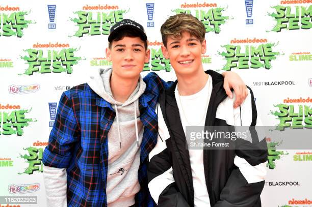 Max Harvey attend the Nickelodoen Slimefest at Blackpool Pleasure Beach on October 19 2019 in Blackpool England